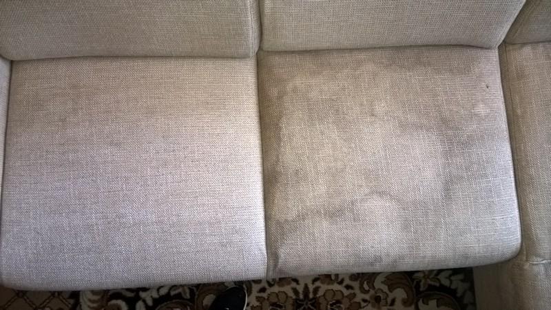 částečně vyčištěná sedačka